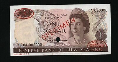 NEW ZEALAND 1967 Pick 163as 1 DOLLAR SPECIMEN Fleming