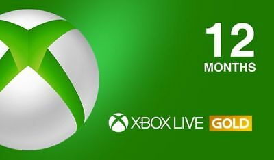 Microsoft Xbox One/360 12 Month Xbox Live Gold Membership - Fast Delivery