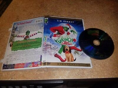 How the Grinch Stole Christmas (DVD, 2001, WideScreen) Jim Carrey