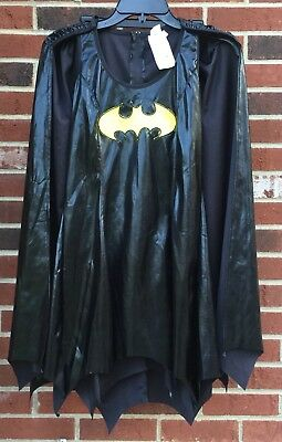 7fce9304 Womens DC Batgirl Batman Small Fancy Dress With Cape Halloween Costume Sexy