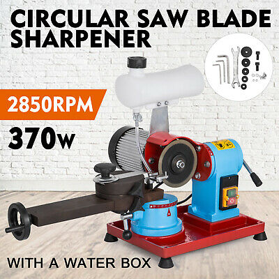 370W Saw Blade Sharpener Water Injection Grinder 125mm Grinding 2850PRM Workshop