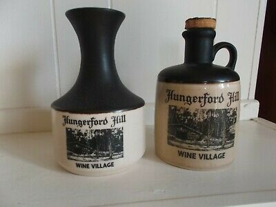 Vintage Hungerford Hill Wine Village Bottle & Karafe