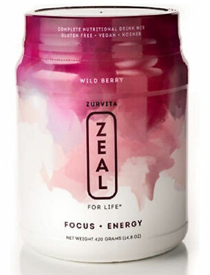 Zurvita ZEAL FOR LIFE 30 Day Supply Wild Berry ( Free Shipping)