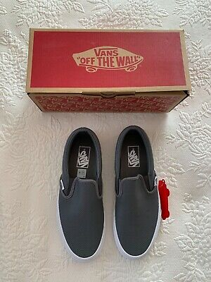 861f074bfe8a87 VANS Classic Slip On Perferated Leather in Smoked Pearl Women s sz 9 Mens  sz 7.5
