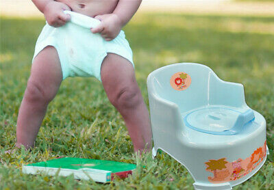 3 in 1 Potty Trainer Safety Kids Baby Toddler Toilet Cute Cartoon Seat Chair