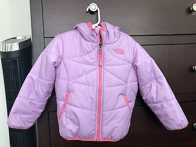 d1c419ae8 THE NORTH FACE Toddler Girls Pink/Purple Reversible Hooded Jacket ...