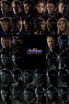 H199 Avengers Endgame Hot Superheroes Movie All Characters 24x36'' Art Poster