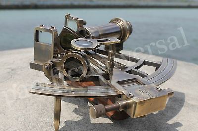Nautical Brass Sextant~  (Henry Barrow & Co London) ~Maritime Collectible Gift.