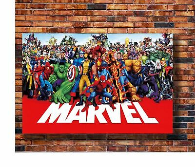 W232 Art marvel line up poster Super Heroes Universe marvel-superheroes Poster