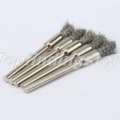 5mm Steel Wire Wheel Pencil Brush Brushes For Power Rotary Tools 5PCS