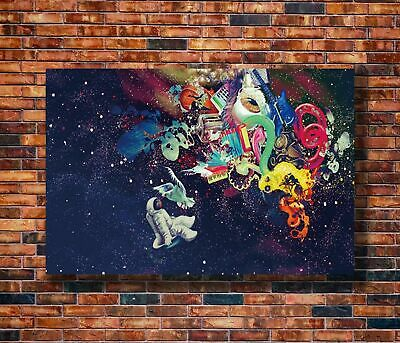 W581 20x30 24x36 Silk Poster Psychedelic Trippy Colorful Art Print