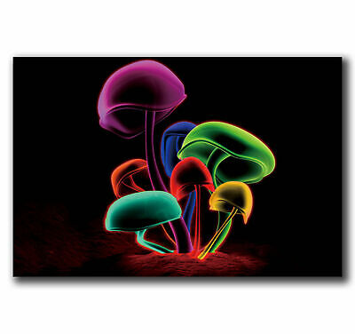 H388 Art Psychedelic Trippy Magic Mushroom Abstract Poster Hot Gift -24x36