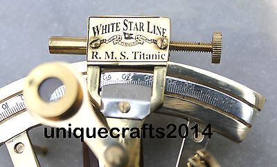 Handmade Maritime Solid Brass Sextant Working Ship Astrolabe Replica Royal Item.