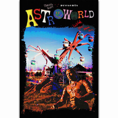 3025f81e748d W844 Travis Scott Astroworld New Custom Rap Music Singer Star Poster Silk  Art