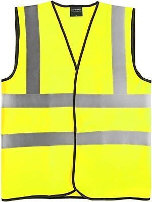 Hi Vis Viz Executive Safety Waistcoat Vest Phone & Id Pocket - Two Tone