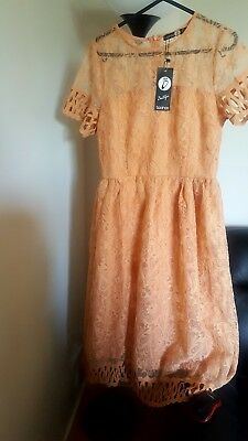 Boohoo Womens Boutique Lace Plunge Skater Dress 2400