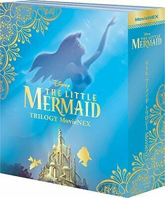 NEW DISNEY-THE LITTLE MERMAID TRILOGY MOVIENEX- 3Blu-ray+3DVD Ltd/Ed w/Tra