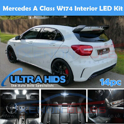x14 DELUXE MERCEDES A CLASS W174 LED INTERIOR UPGRADE WHITE KIT SET A45 A200 UK