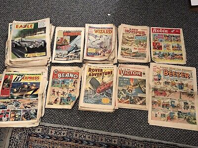 Comic Collection UK Beano, Eagle, TV Express, Wizard, Adventure, New Hotspur 60s