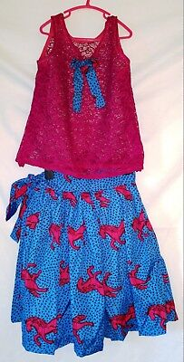 Lovely Traditional African Girl's Set - Top & Skirt - size 5-6 year       (#B56)