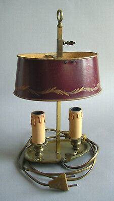 Jugendstil Bouillotte Lampe Tischlampe Frankreich Art Nouveau French Table Lamp