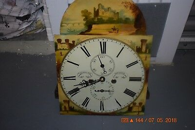 Antique Original Irish or Scottish GRANDFATHER CLOCK MOVEMENT working