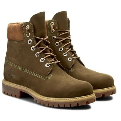 TIMBERLAND 15.2CM PREMIUM Homme Bottes Chaussures Cuir Nubuck A17XP