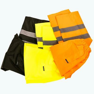Hi Vis Viz Visibility Over Trousers Waterproof Pants Work Wear Safety