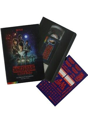 Stranger Things A5 VHS Premium Hardback Journal Notebook Pad with Sticker Sheet