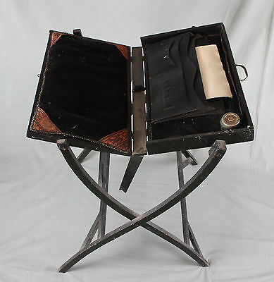 Military Campaign Folding Writing Table 19th Century