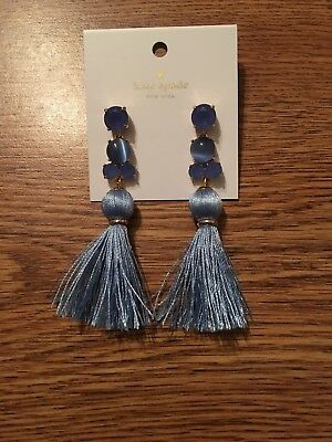 d2ee5afe50266 KATE SPADE IN the swing of things tassel earrings fringe BLUE jewels ...