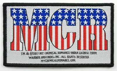 MY CHEMICAL ROMANCE Patch Toppa Flag OFFICIAL MERCHANDISE