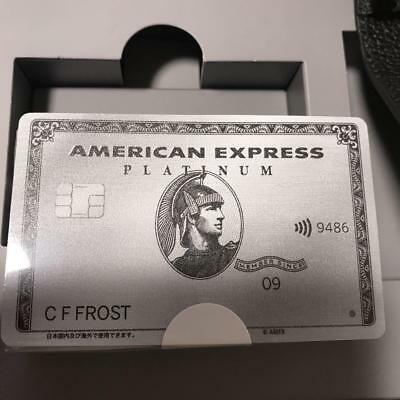 American Express Card Platinum Tramp Set F/S JAPAN