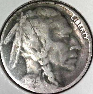 1929 Buffalo nickel 5 cents. Good detail obverse and reverse. 2578