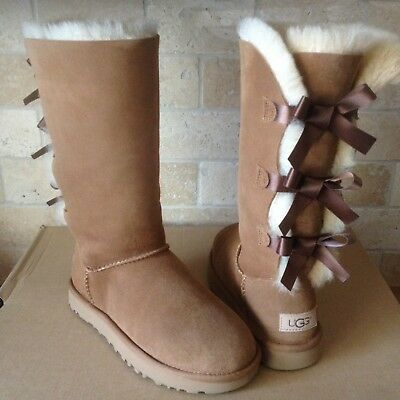 8e115bb769d UGG TRIPLE TRIPLET Bailey Bow Ii Chestnut Water-Resistant Tall Boot ...
