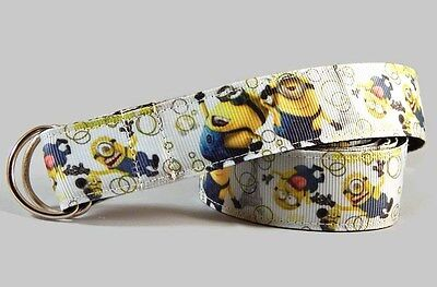 Belt for toddlers Minions hook and loop or D-ring Handmade 1inch kids belt UK