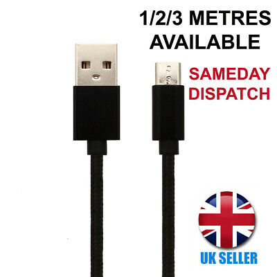 For Samsung Galaxy J3 Mobile CHARGER CABLE MICRO USB CHARGING LEAD 1M/2M/3M