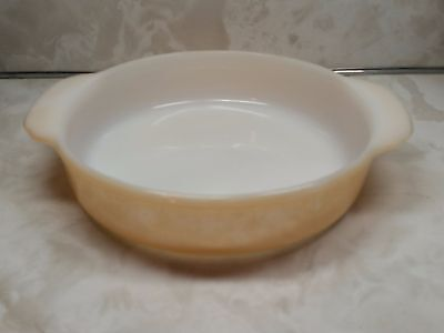 Fire King Peach Luster #405 Handled Cake/Casserole Dish Made in USA 8""