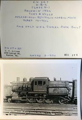 "1898 Lehigh Valley Railroad Black Diamond Express Photograph 11/"" x 17/"" Repro"