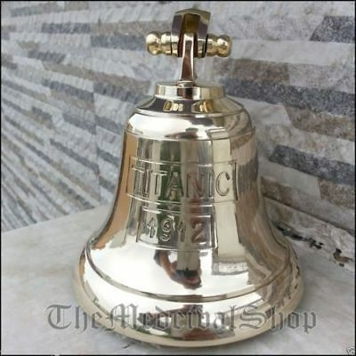 Vintage Brass Maritime Ship Bell Titanic Bell 1912 London Hanging Nautical Wall