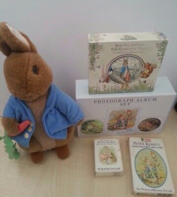 Beatrix Potter Bundle CD Audio Books mini Books Playing Cards Soft Toy & more