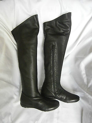 Girls Ladies Women Black Leather Boots - BNIB - Made in Italy