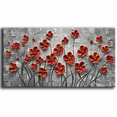 """100% Hand-Painted Oil Painting on canvas3D Flower Home Decor art Unframed 48"""""""