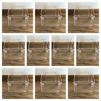 10 x Internal Bird Cage Feeder Drinker For Finch Canary Budgie Etc