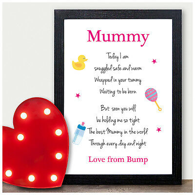 Personalised Mummy Daddy To Be Gifts From Bump Birthday Fathers Day Poem Gift