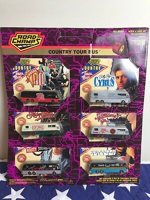 NEW 1993 Road Champs Country Stars Authentic 6 Tour Buses Hank Williams Jr +More