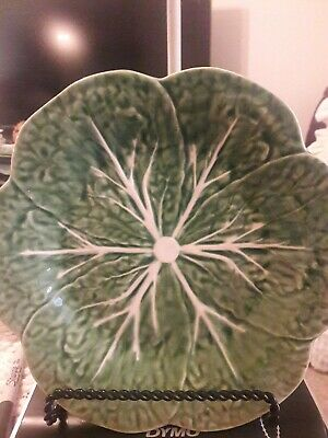 Pinheiro bordallo Green SCALLOPED Cabbage Plate 9""