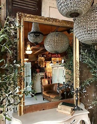 Fabulous vintage French gilt mirror