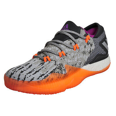 buy popular 212ae 236a7 Adidas Crazylight Boost Low Mens Premium Basketball Trainers Grey