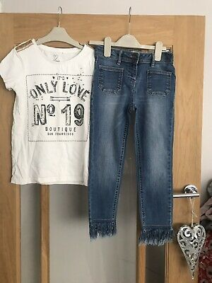 Next Girls Outfit Age 9 Years Top & Jeans
